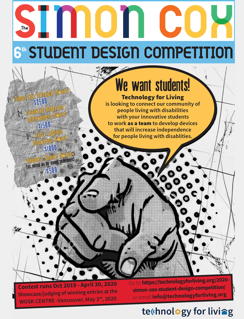 Simon Cox Student Design Competition 2020 poster